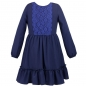 Mobile Preview: Spitzenkleid Navy mit Volant