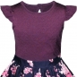 Preview: Kleid Purple mit Blumen - Strukturjersey